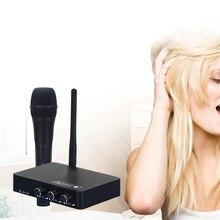 Yeni el kablosuz Karaoke mikrofonu Karaoke çalar ev Karaoke yankı karıştırıcı sistemi dijital ses ses mikseri şarkı makinesi