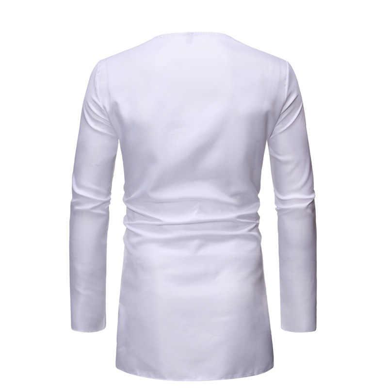 Weiß African Dashiki Drucken Top Hose Set 2 Stück Outfit Set 2020 Marke Männer Kleidung Streetwear Afrikanische Anzug Männer Afrika kleidung
