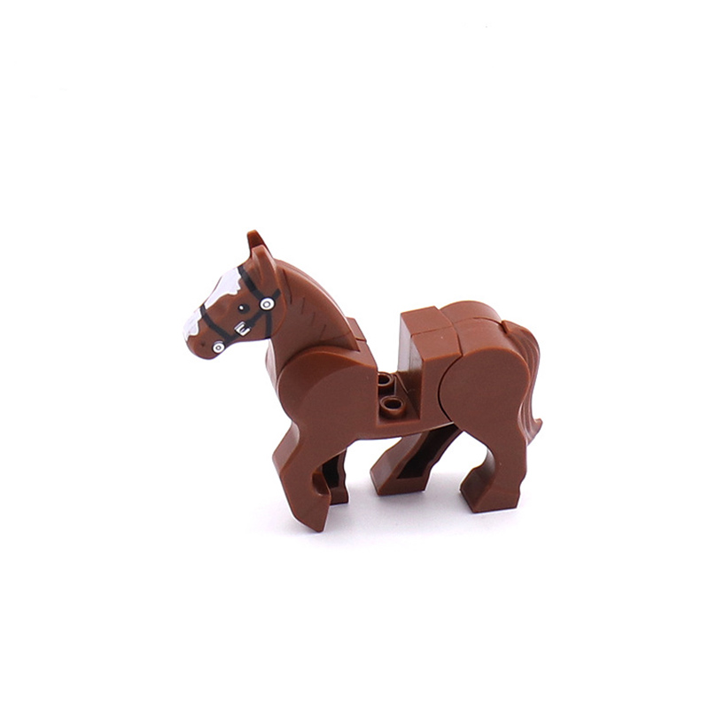 Single Sale Legoinglys Horse Wild Animal Figures Military SWAT MOC Blocks Bricks Educational Toys Christmas Gift Zongsezhanma