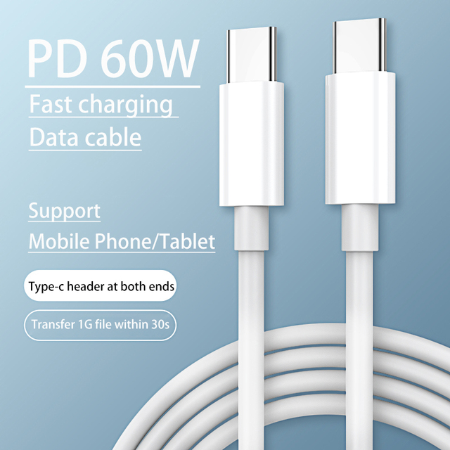 Kebiss PD Data Cable USB C To USB Type C 60W Fast Charging Cable Usb C Cable Usb Cable For iPad Pro Samsung MacBook Pro Xiaomi 1