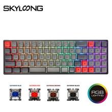 Skyloong SK73 73 مفاتيح لوحة مفاتيح ميكانيكية قابلة للتبديل مع RGB Mx الخلفية PBT GSA أغطية مفاتيح للكمبيوتر/Win/Mac/لوحة مفاتيح سلكية للألعاب