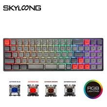 Skyloong SK73 73 touches clavier mécanique échangeable à chaud avec touches rvb Mx rétroéclairées PBT GSA pour clavier filaire PC/Win/Mac/Gaming
