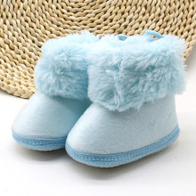Autumn Winter Baby Girls Boys Soft Booties Snow Boots Infant Toddler Newborn Warming Shoes Soft Sole kids warm baby boots(China)