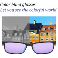 Glasses Red Green Color Blind Corrective Eyewear Women Men Carter Sunglasses Colorblind Driver's License Mirror