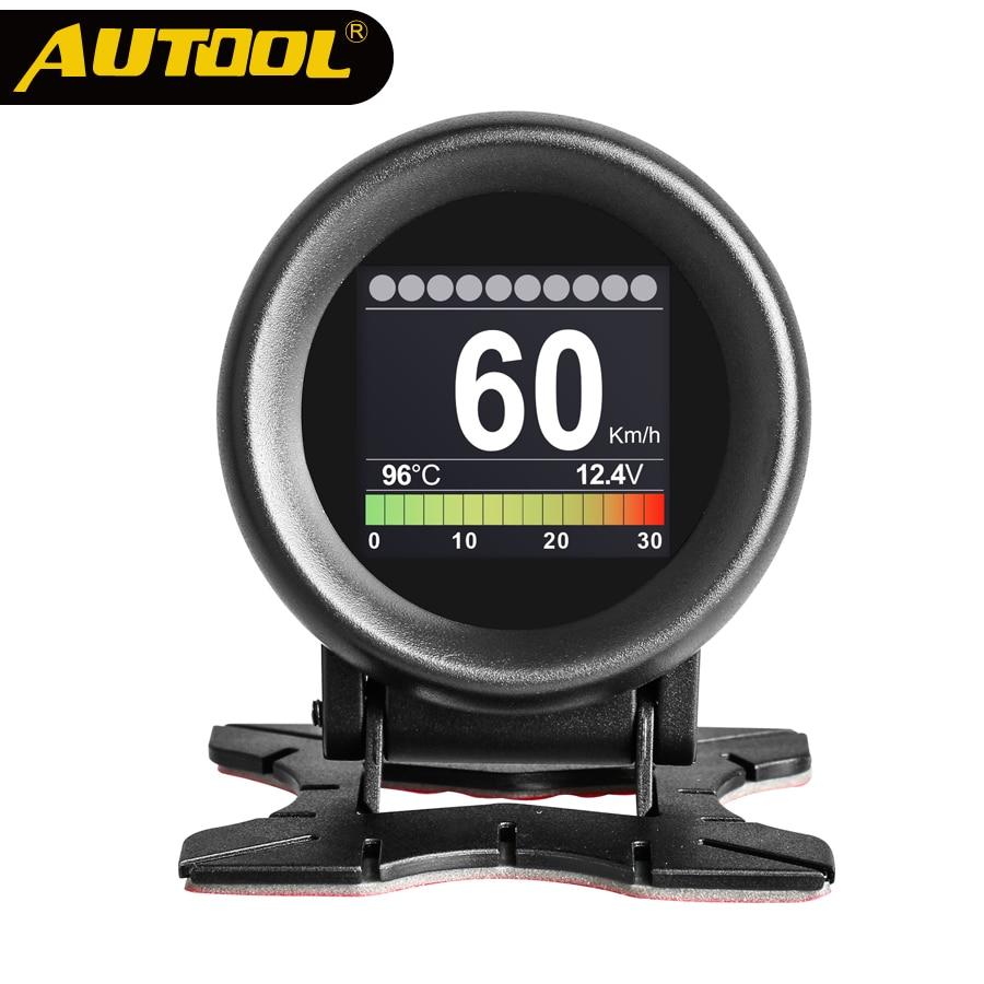 AUTOOL X60 Auto OBD Diagnose Meter OBD 2 Digital Display Temperatur Spannung Geschwindigkeit Alarm Wasser Automotive DIY Autos Tacho