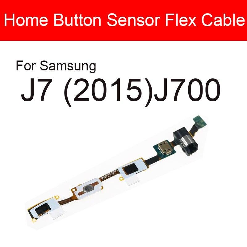 Home Button Fingerprint Sensor Flex Cable For Samsung Galaxy J7 (2015) J700 Menu Return Key Touch Sensor + Audio Jack Repair