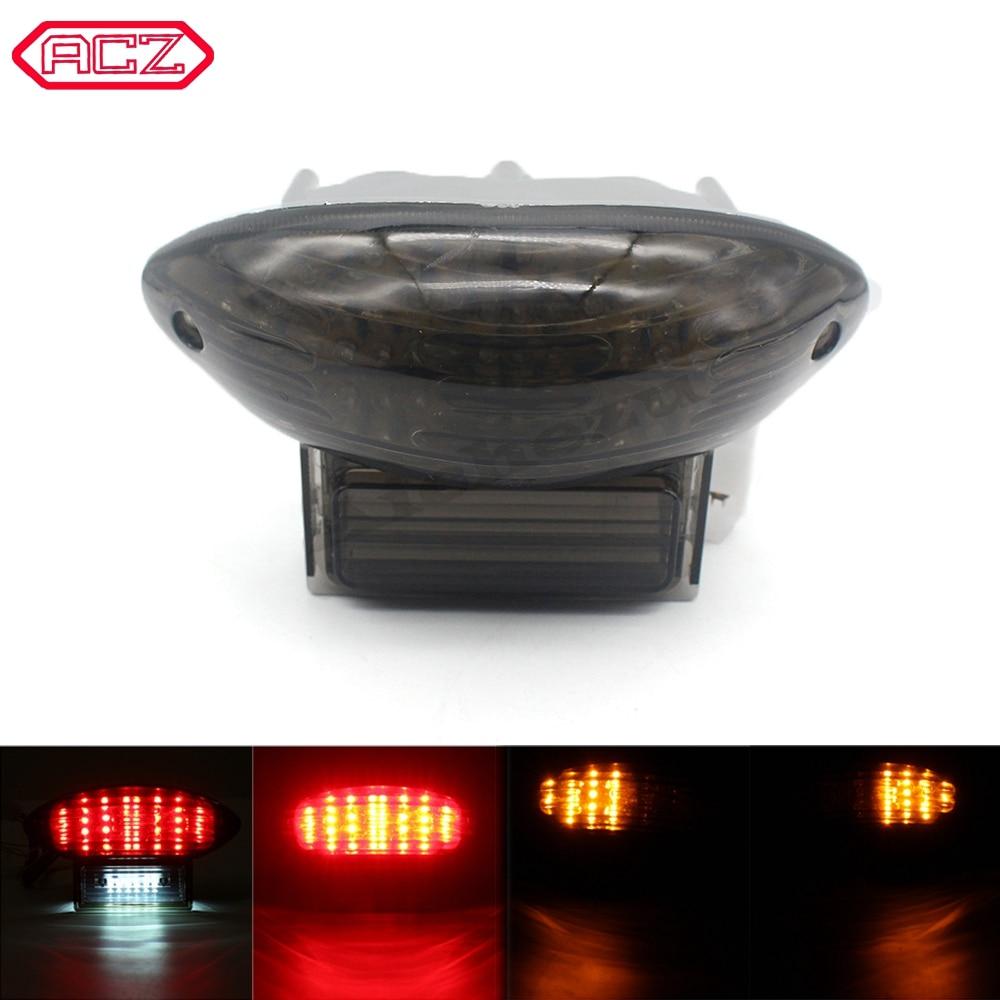 ACZ мотоциклетный задний светодиодный стоп-светильник, задний светильник, Интегрированная Лампа, указатель поворота, светильник для Suzuki ...