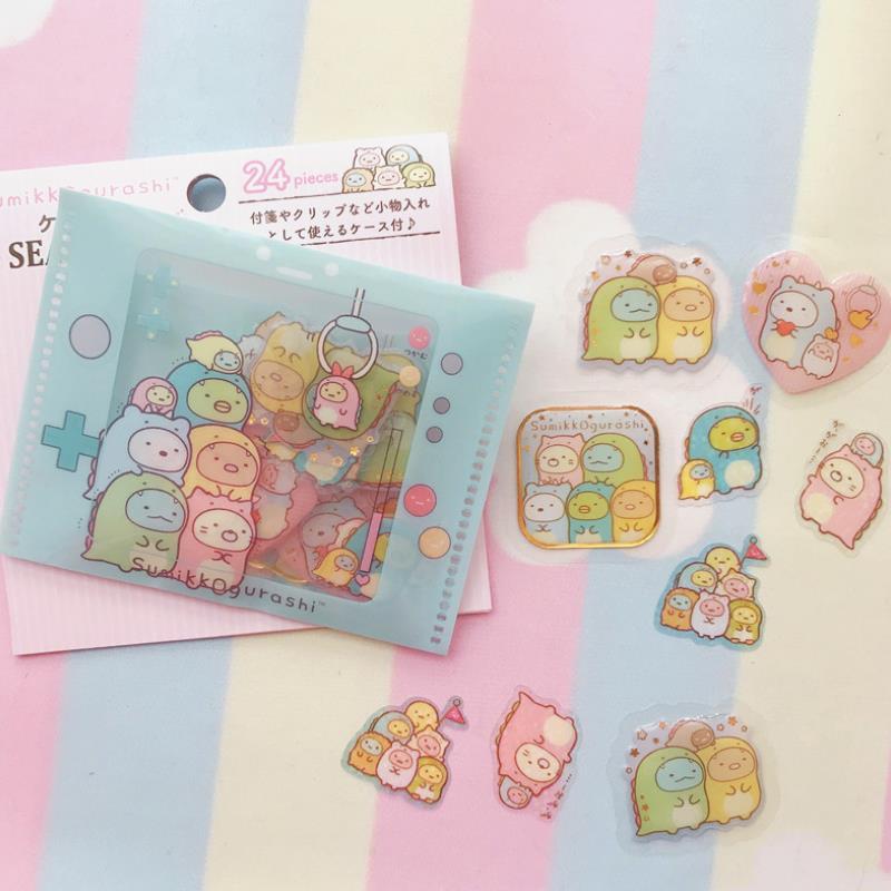 1pack Cartoon Zero Purse Style Sumikko Gurashi Corner Creature Diary Label Stickers Decor Scrapbooking DIY Stickers Toy Gift
