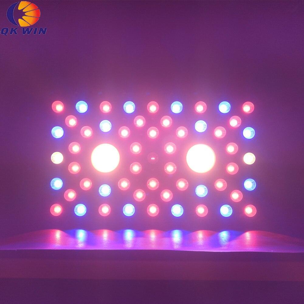 Qkwin COB Led Grow Light 1200W Bridgelux Chip LEDS Full Spectrum With COB And Double Chip Leds Dual LENS For High Par Value