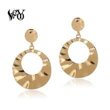 VEYO Zinc Alloy Hoop Clip Earrings for Women ZA Gold Earrings Gift Fashion Jewelry 2019 NEW veyo zinc alloy hoop clip earrings for women za gold earrings gift fashion jewelry 2019 new