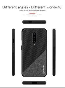 Image 3 - PINWUYO étui en cuir pour Oneplus 7 étui tresse Design tissu souple PC dur protection coque de téléphone OnePlus 7 Pro couverture