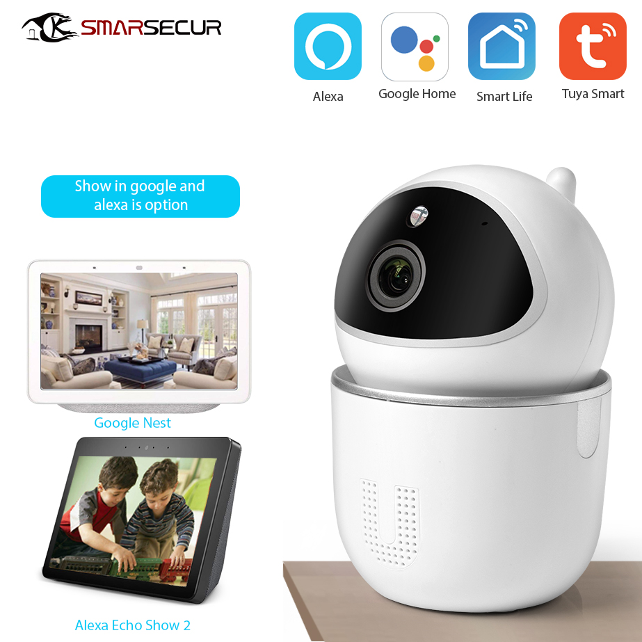 WiFi IP Camera 1080P Home  Security WiFi Tuya Camera Google/Alexa For Option