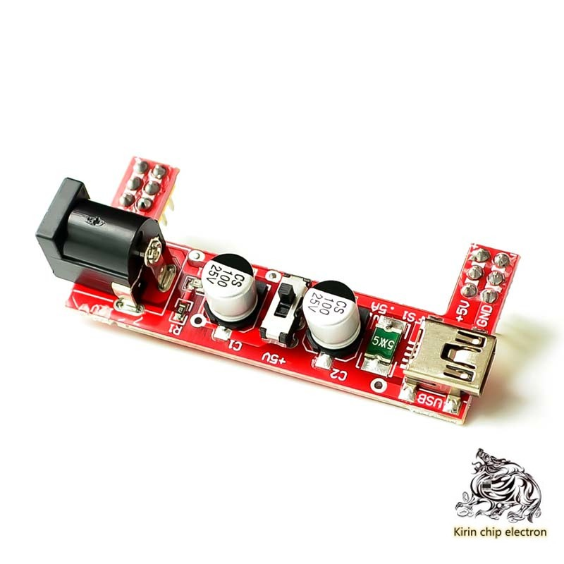 10PCS/LOT B10 Bread Board Special Power Supply Module 2-Way 5V/3.3V Red (excluding Bread Board)