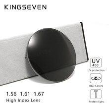 KINGSEVEN-gafas asféricas de resina para miopía, lentes de presbicia óptica graduadas, color gris y marrón, 1,56, 1,61, 1,67, CR-39