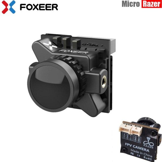 Foxeer Dron de carreras con visión en primera persona, Razer Micro HD 5MP 1,8mm M8 1200TVL 4:3/16:9 NTSC/PAL conmutable con OSD 4,5 25V, imagen Natural