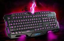 Tri-color backlit gaming keyboard, mechanical touch wired keyboard,M200.gaming keyboard