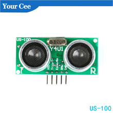 Ultrasonic-Sensor-Module US-100 Temperature For Arduino 5V DIY To DC with Range-Up 450cm