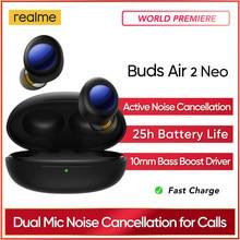 Oryginalne słuchawki realme Air 2 Neo Bluetooth ANC 28 godzin odtwarzania Super niskie 88ms Latency słuchawki bezprzewodowe szybkie ładowanie