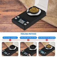 Yieryi 100g/50g/20g/10g electronic scales 0.001 lcd digital scale jewelry medicinal herbs portable lab weight milligram scale