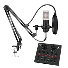 Bm 800 Studio Microphone Kits With Filter V8 Sound Card Condenser Microphone Bundle Record Ktv Karaoke Smartphone Microphone bm 800 studio condenser microphone v8 audio usb headset microphone smartphone sound card e300 wired for computer