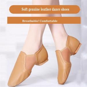 Image 4 - Dans Sneakers Latin dans ayakkabıları Femme yumuşak taban bale ayakkabıları elastik bant bayanlar caz balo salonu dans ayakkabı kız EU 34 44