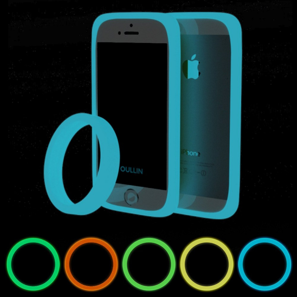 Universal Protective Luminous Soft Silicone Phone Frame Case Cover For Smart Phone For Iphone Samsung Huawei Xiaomi Mobile Phone