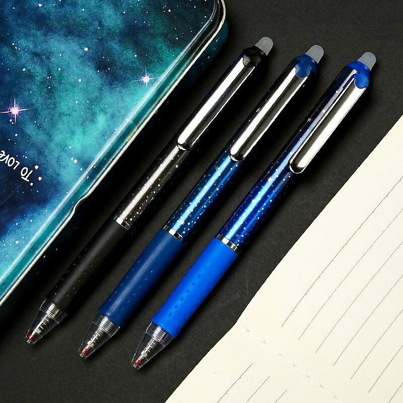 1pcs Erasable Pen Blue Black  Magic Pen Office Supplies Student Exam Spare School Supplies 0.5mm Colored Pens Stationery Gift