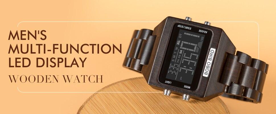 masculino-caixas de relógio de madeira C-gR05