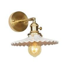 Керамическая Минималистичная настенная лампа с выключателем