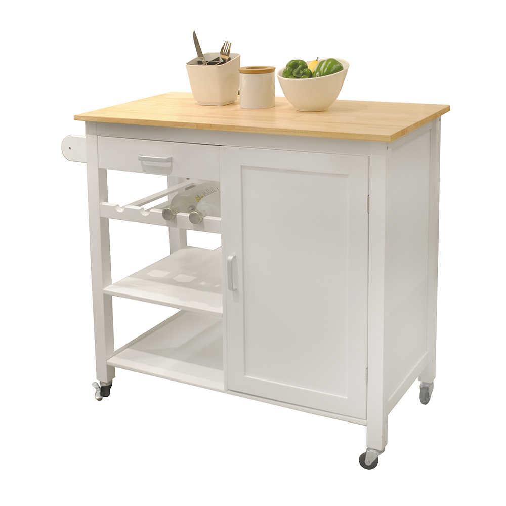 Kitchen Island Cart With Drawers Cabinets Wine Racks Partitions Towel Racks White Beech Kitchen Islands Trolleys Aliexpress