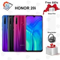 Global Honor 20i Mobile Phone 6.21 6GB RAM 64/128GB ROM Kirin 710 Octa core Octa core 20MP Camera Android 9.0 Smartphone