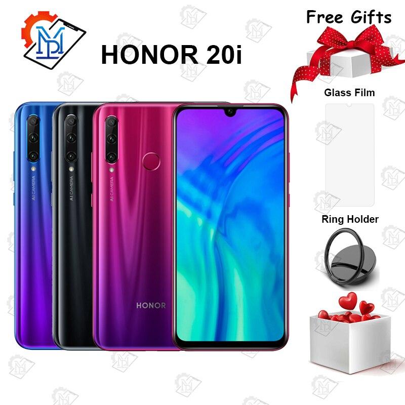 "Global Honor 20i Mobile Phone 6.21"" 6GB RAM 64/128GB ROM Kirin 710 Octa core Octa core 20MP Camera Android 9.0 Smartphone"
