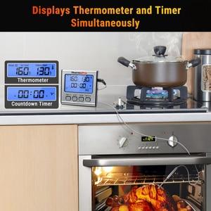Image 4 - ThermoPro TP17 çift probları dijital açık et termometresi pişirme barbekü fırın termometresi büyük LCD ekran ile mutfak için