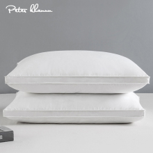 Peter Khanun Home Textile Sleeping Pillow 100% Cotton White Goose Feather Down Light Pillows Zero Pressure 3 Layers 48*74cm 050