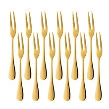 Hotel restaurant Party Golden salad Snail Fork Dessert Stainless Steel Lovely Fruit Fork tableware