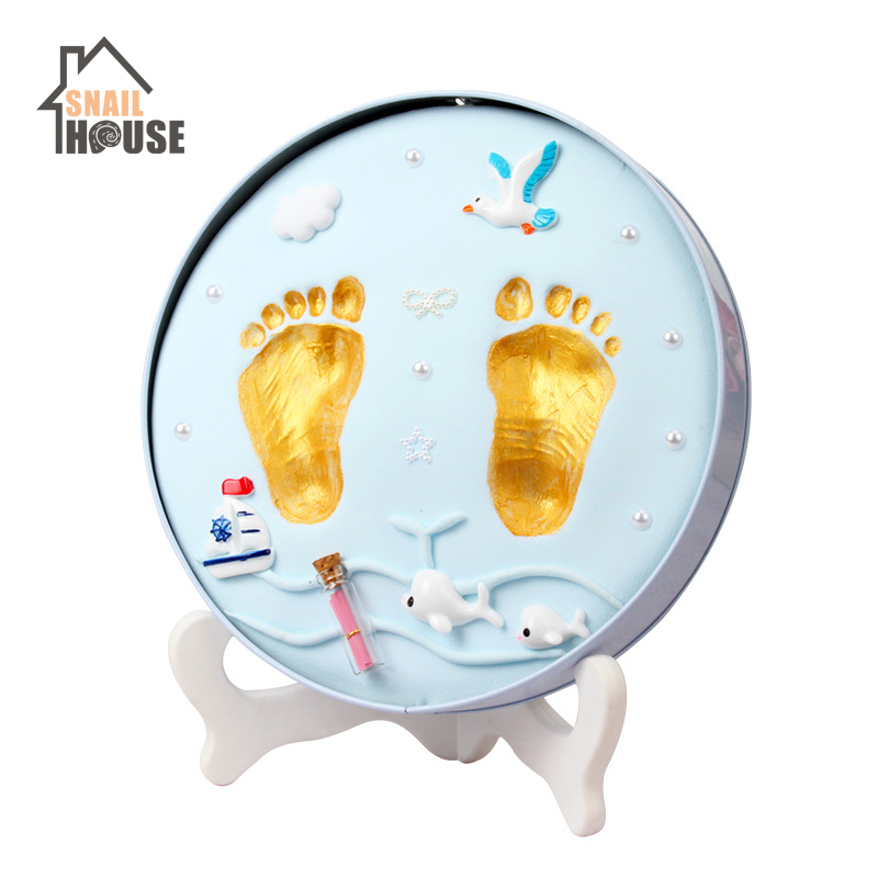 Snailhouse Baby Hand Print Footprint Imprint Kit Foot Print Mud Baby Souvenirs Baby Hand & Foot Mold Hundred Days Souvenir Gifts