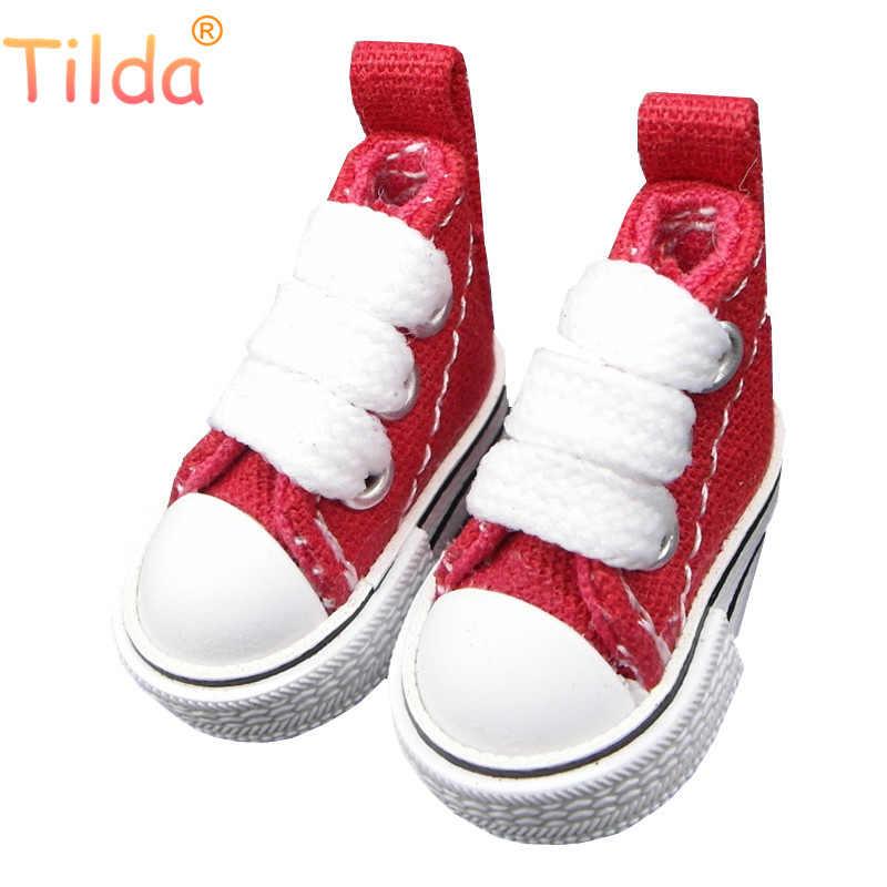 Тильда 3,5 см кукла обувь для Blythe игрушки bjd, холст игрушечные кроссовки для OB24 куклы 1/8 для Blyth bjd аксессуары для кукол игрушка подарок