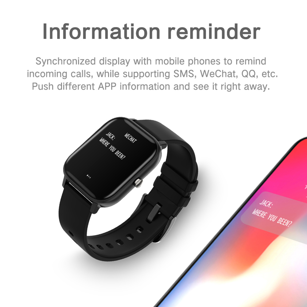 cheapest COLMI P8 1 4 inch Smart Watch Men Full Touch Fitness Tracker Blood Pressure Smart Clock Women GTS Smartwatch for Xiaomi