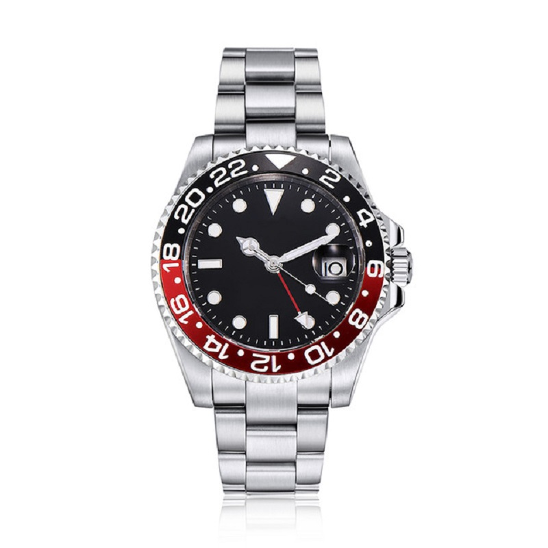 <font><b>40mm</b></font> <font><b>parnis</b></font> <font><b>Watch</b></font> Men Automatic Mechanical <font><b>Watches</b></font> GMT Sapphire Crystal Ceramic Bezel Luminous Waterproof Male Wristwatch image
