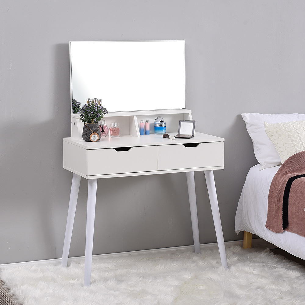 Panana Free Standing Dressing Table Modern Apartment Nordic Style Bedroom Dressing/vanity Table White