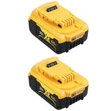 Batterie lithium-ion de remplacement, 2x20 V, 6000 ah, pour outil électrique DeWalt MAX XR, 184 mAh, DCB200