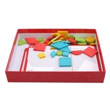 Tangram brinquedos de madeira para crianças blocos de construção jogo cérebro teaser brinquedo inteligência educação speelgoed juegos educativos