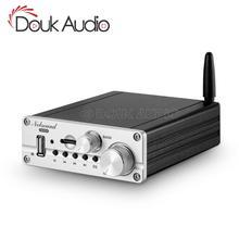 دوك الصوت بلوتوث صغير 5.0 الفئة D 2.1 مكبر كهربائي HiFi ستيريو الصوت مضخم الصوت أمبير USB/ AUX/ U القرص لاعب
