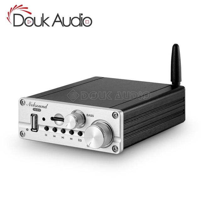 Douk Audio Mini Bluetooth 5.0 Klasse D 2.1 Eindversterker Hifi Stereo Audio Subwoofer Amp Usb/Aux/U Disk Speler