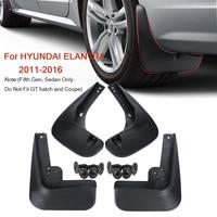 Guardafangos para Hyundai Elantra MD 2011 2012 2013 2014 2015 2016  guardabarros  guardabarros  protectores de salpicaduras  accesorios para coche