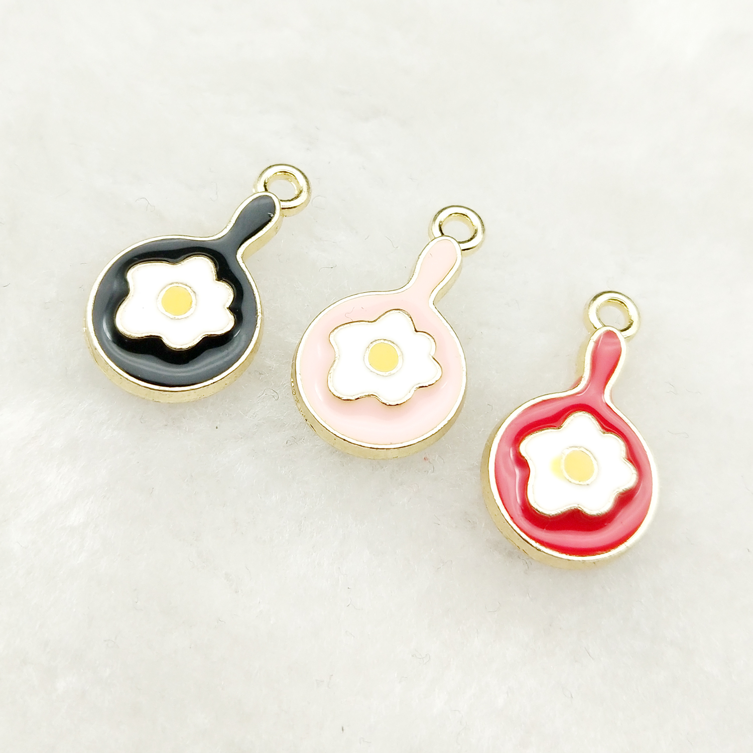 10pcs enamel egg <font><b>pan</b></font> <font><b>charm</b></font> jewelry accessories earring pendant <font><b>bracelet</b></font> necklace <font><b>charms</b></font> zinc alloy diy finding 11x20mm image