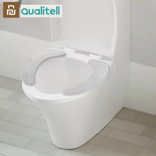 Youpin Qualitell 따뜻한 부드러운 빨 수있는 변기 커버 매트 홈 장식에 대 한 설정 Closestool 매트 좌석 케이스 화장실 뚜껑 커버 Accessori
