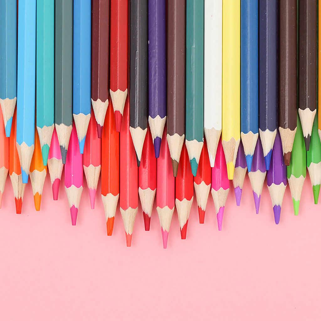 48 สีไม้ดินสอสี Lapis De COR ศิลปินภาพวาดน้ำมันดินสอสีสำหรับวาดโรงเรียน Sketch Art ซัพพลายเด็ก # G7
