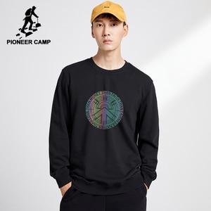 Image 4 - Pioneer Camp z polaru grube bluzy męskie zimowe ciepłe 100% bawełniane bluzy z kapturem męskie marki odzież na co dzień Plus rozmiar XXXL