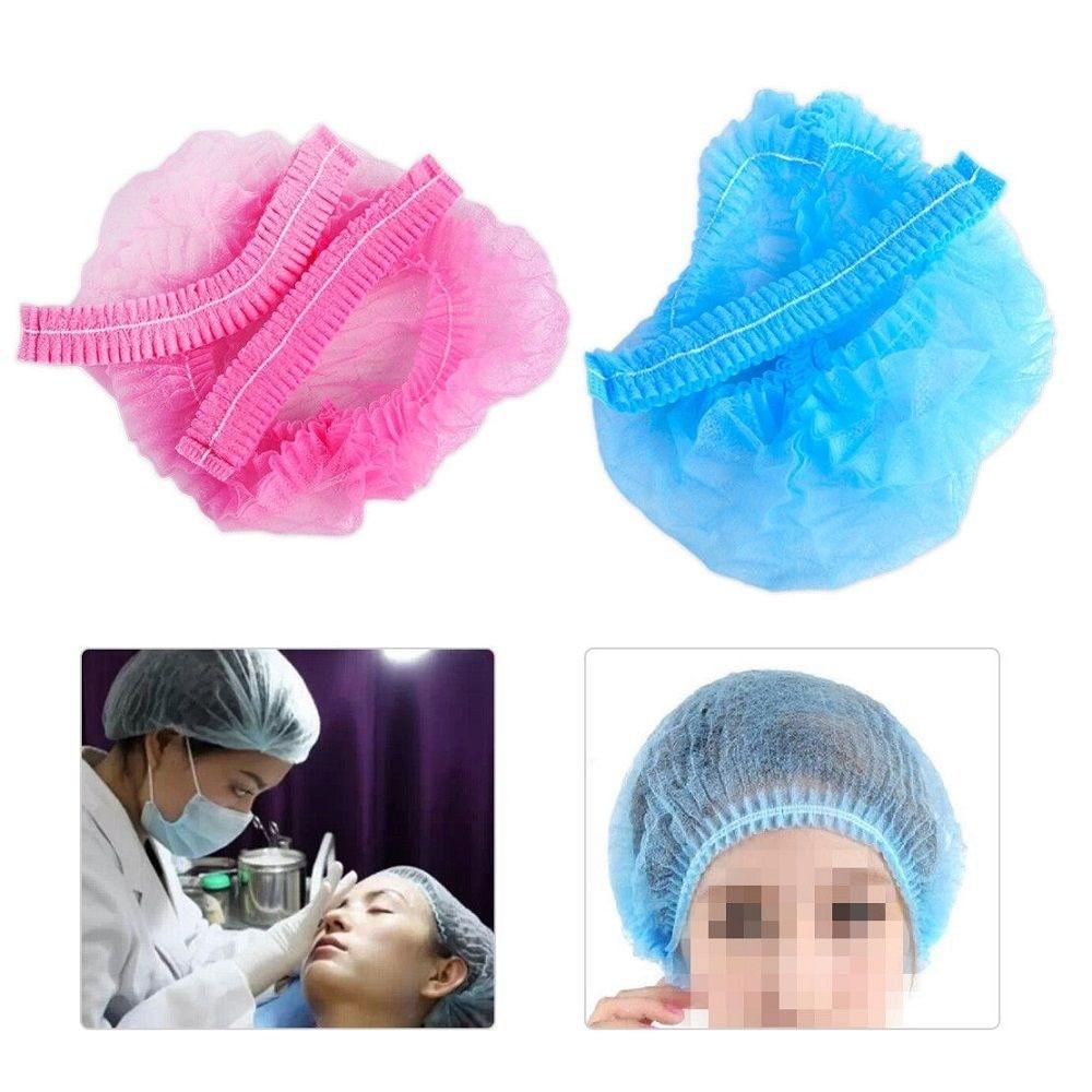 Chapéu descartável de rede de cabelo, tecido não tecido, descartável, microblading, chapéu esterilizado para sobrancelha, chapéu de coleta de tatuagem, 20 peças